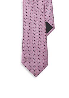 Lauren Ralph Lauren Neckwear Dotted Silk Twill Tie