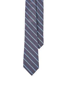 Lauren Ralph Lauren Silk/Linen Satin Stripe Tie