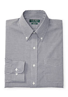 Lauren Ralph Lauren Classic-Fit Mini-Checked Poplin Dress Shirt