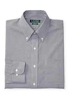Lauren Ralph Lauren Classic-Fit Mini-Checked Poplin Dress Shirt