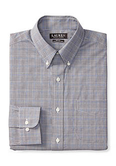 Lauren Ralph Lauren Slim-Fit Glen Plaid Stretch Dress Shirt