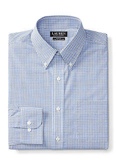 Lauren Ralph Lauren Slim-Fit Checked Stretch Dress Shirt