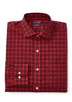 Lauren Ralph Lauren Slim-Fit Plaid Stretch Estate Dress Shirt