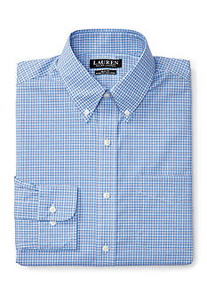 Lauren Ralph Lauren Slim-Fit Plaid Stretch Dress Shirt