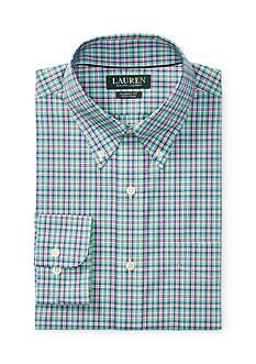 Lauren Ralph Lauren Classic-Fit Plaid Poplin Dress Shirt
