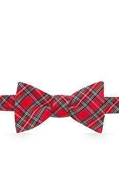 Lauren Ralph Lauren Pre-Tied Shirting Plaid Bow Tie