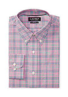 Lauren Ralph Lauren Slim-Fit Plaid Poplin Dress Shirt