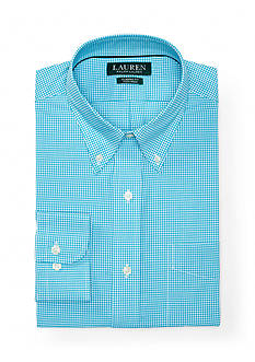 Lauren Ralph Lauren Classic Fit Non Iron Gingham Cotton Dress Shirt