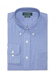 Lauren Ralph Lauren Classic Fit Non-Iron Gingham Cotton Dress Shirt