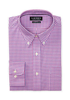 Lauren Ralph Lauren Slim Fit Plaid Stretch Cotton Dress Shirt