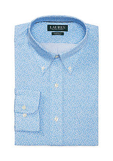 Lauren Ralph Lauren Classic Fit Floral-Print Cotton Dress Shirt
