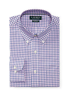 Lauren Ralph Lauren Classic Fit Checked Cotton Dress Shirt