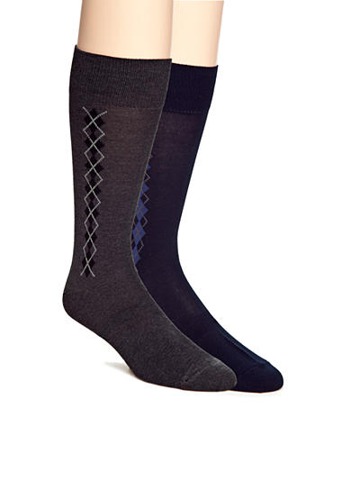 Saddlebred® Clocking Argyle Dress Socks - Single Pair