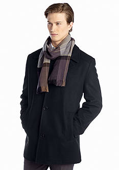 London Fog® Big & Tall Wool Coat with Scarf