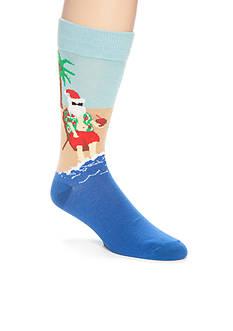 Legale Tropical Santa Crew Socks - Single Pair