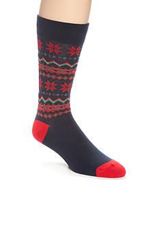 Legale Holiday Fair Isle Crew Socks - Single Pair