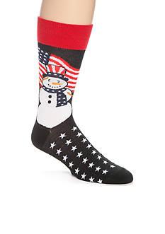Legale Patriotic Snowman Crew Socks - Single Pair