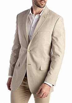 Saddlebred® Classic-Fit Tan Chambray Sport Coat