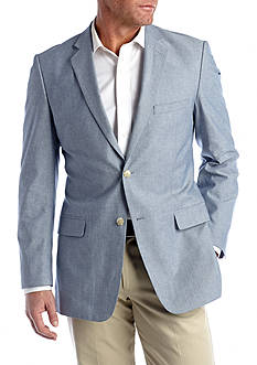 Saddlebred® Classic-Fit Blue Chambray Sport Coat