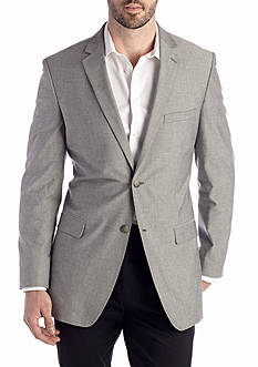 Saddlebred Classic-Fit Gray Chambray Sport Coat