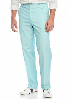 Saddlebred® Flat Front Chambray Pants