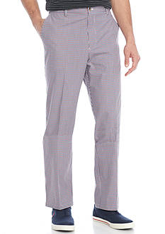 Saddlebred® Flat Front Plaid Pants