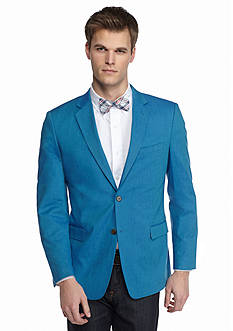 Saddlebred Classic-Fit Aqua Chambray Sport Coat
