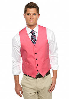 Saddlebred® Classic-Fit Fuchsia Chambray Solid Vest