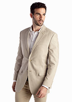 Saddlebred® Big & Tall Classic Fit Tan Chambray Sport Coat