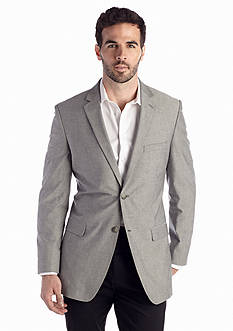 Saddlebred® Big & Tall Classic Fit Gray Chambray Sport Coat