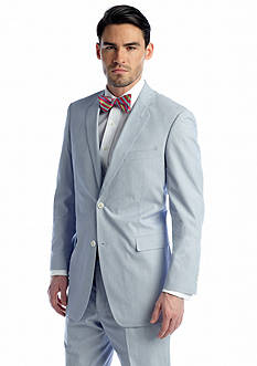 Saddlebred® Classic-Fit Blue Pinfeather Stripe Suit Coat