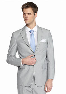 Saddlebred® Classic-Fit Gray Pinfeather Stripe Suit Separate Coat
