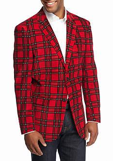 Saddlebred Classic-Fit Red Plaid Corduroy Sport Coat