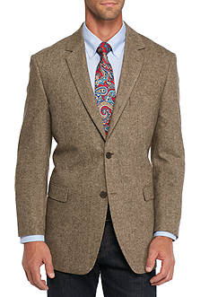 Saddlebred Classic-Fit Brown Donegal Sport Coat