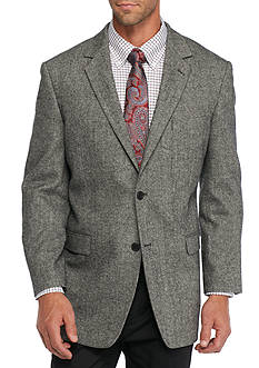 Saddlebred Slim-Fit Gray Donegal Sport Coat