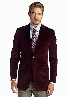 Saddlebred Classic Fit Burgundy Corduroy Sport Coat