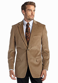 Saddlebred Big & Tall Classic-Fit Wheat Corduroy Sport Coat