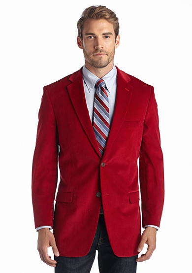 Saddlebred® Classic Fit Red Corduroy Sport Coat