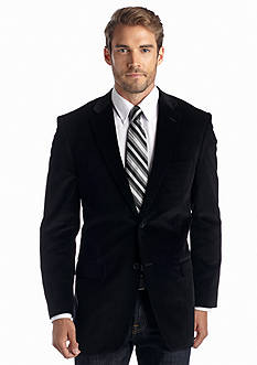 Saddlebred Big & Tall Classic Fit Black Corduroy Sport Coat