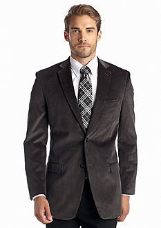 Saddlebred Big & Tall Classic Fit Gray Corduroy Sport Coat