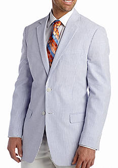 Saddlebred Big & Tall Blue Seersucker Sport Coat