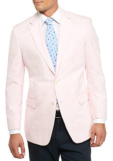 Saddlebred Classic-Fit Pink Seersucker Sport Coat