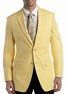 Saddlebred Big & Tall Yellow Chambray Sport Coat