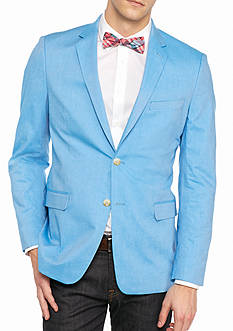 Saddlebred Big & Tall New Bright Blue Chambray Sport Coat