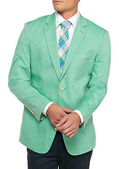 Saddlebred Big & Tall New Green Chambray Sport Coat