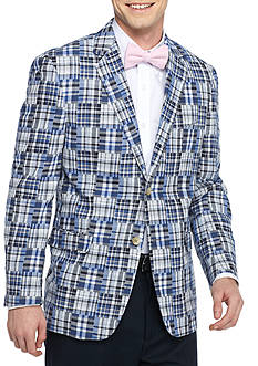 Saddlebred Classic-Fit Blue Patch Plaid Sport Coat