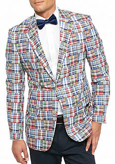 Saddlebred Classic-Fit Patchwork Plaid Sport Coat