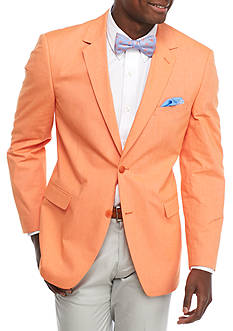 Saddlebred Classic-Fit Orange Chambray Sport Coat