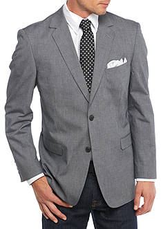 Saddlebred Big & Tall Black Chambray Sport Coat