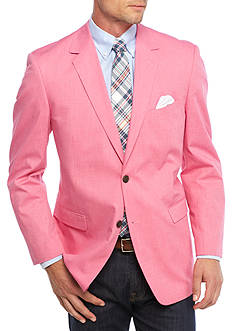 Saddlebred Big & Tall Fuchsia Chambray Sport Coat